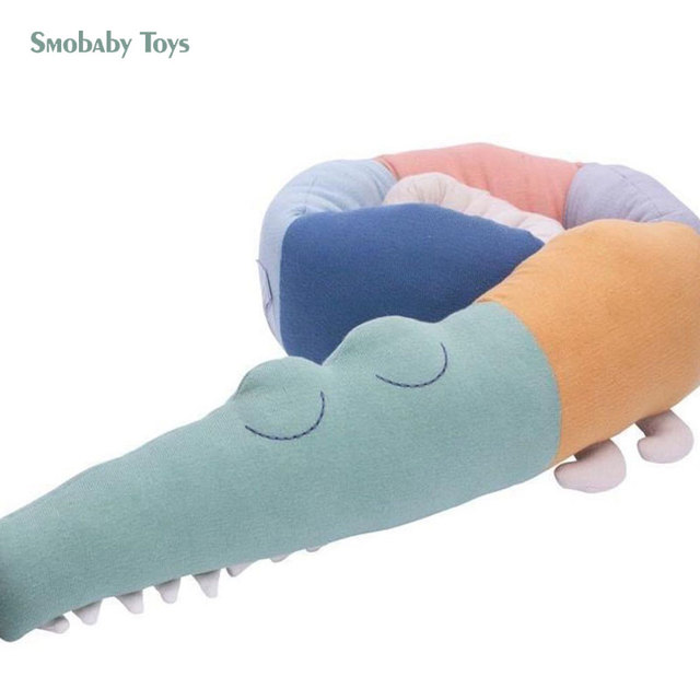 185cm alligator stuffed toy cute crocodile plush baby crib fence children room baby sleeping pillow kids toys for boy girl gift