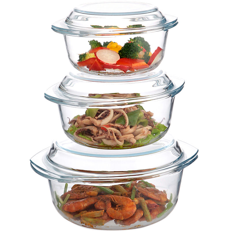 tempered glass bowl with lid heat resistant soup bowl instant noodle bowl microwave oven suitable for one bowl dual use salad