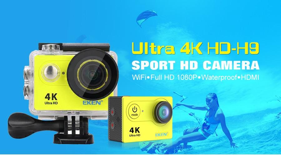 EKEN H9R H9 Ultra HD 4K kamera akcji 30m wodoodporna 1080p nagrywanie wideo kamera sportowa 2.0 'ekran kask Cam