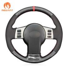 MEWANT Black Suede PU Carbon Fiber Car Steering Wheel Cover for Infiniti FX FX35 FX45 2003 2007 2008 Nissan 350Z 2002 2009
