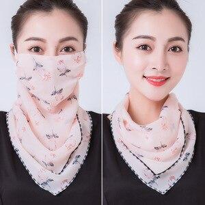 2020 Горячая продажа маска для рта Легкая Маска Для Лица Шарф Солнцезащитная маска для улицы маски для верховой езды Защитный Шелковый шарф платок