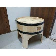 Дизайнерский деревянный журнальный столик-баррель