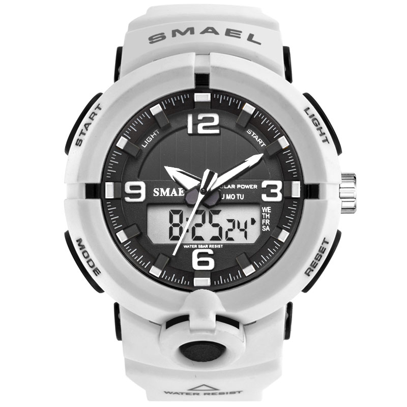 Man Watch SMAEL Men Watches White Sport Watch LED Digital 50M Waterproof Casual Watch S Shock Male Clock 1509 relogios masculino