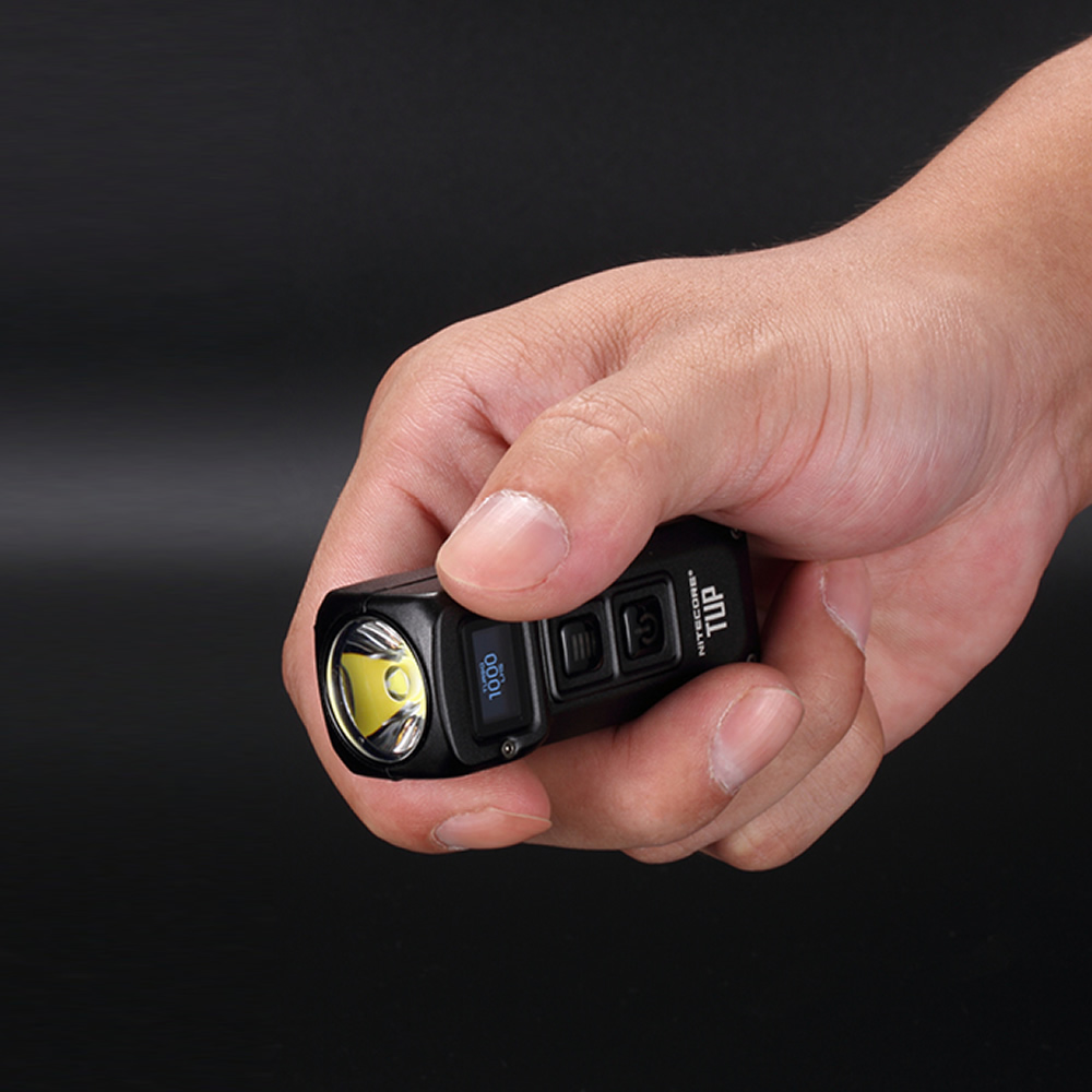 Free Shipping NITECORE TUP with USB Charge Cable 1000 LMs Stainless Steel Metallic Keychain Light EDC Flashlight Key Button Lamp