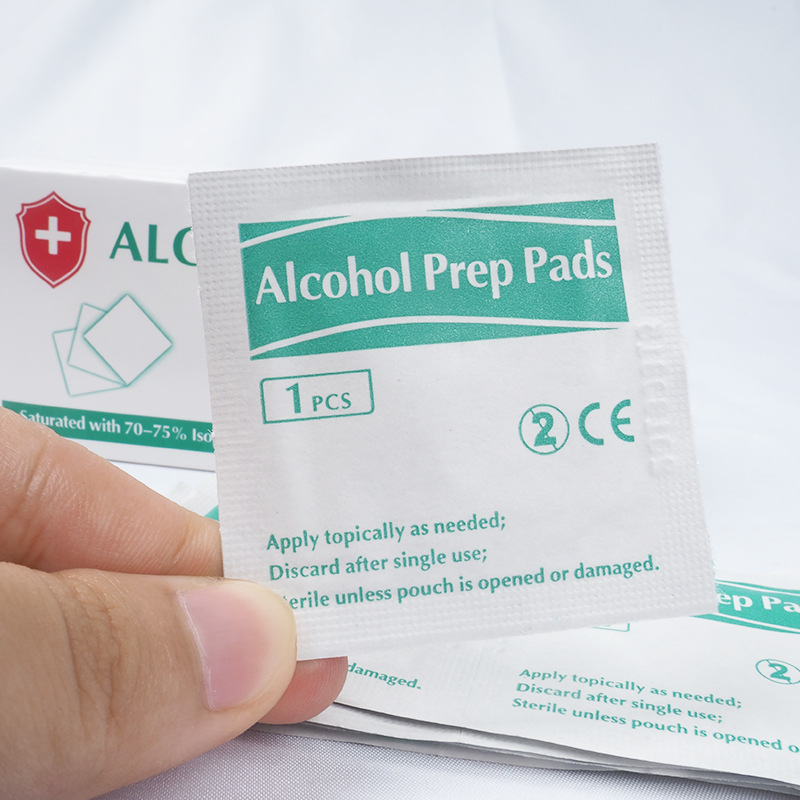 50Pcs/Box New Portable Alcohol Swabs Pads Wet Wipes Antiseptic Cleanser Cleaning Sterilization First Aid Home Makeup Wipes