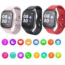 Reloj inteligente T55 para hombre y mujer, pulsera con Bluetooth, llamada, Ip67, resistente al agua, ritmo cardíaco y presión arterial, para Apple Pk Iwo 8 10 11 12 T500 X7, 2020