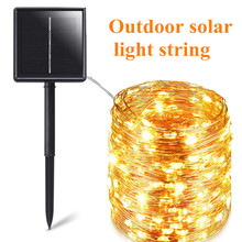 Outdoor Garland Fairy-Lights Solar-Power-Lamp Garden-Decoration Christmas Waterproof