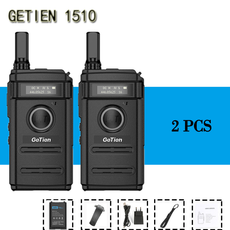 2 PCS GeTien Mini Handheld Walkie Talkie Lightweight Small Machine Small Handheld Hotel Outdoor Two Way Ham Radio HF Transceiver