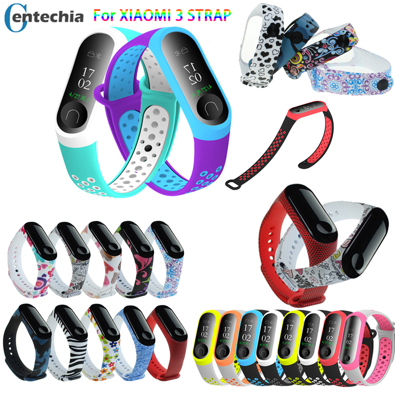 Bracelet For Xiaomi Mi Band 3 4 Sport Strap Watch Silicone Wrist Strap For Xiaomi Mi Band 3 4 Bracelet Miband 3 Smartwatch Strap