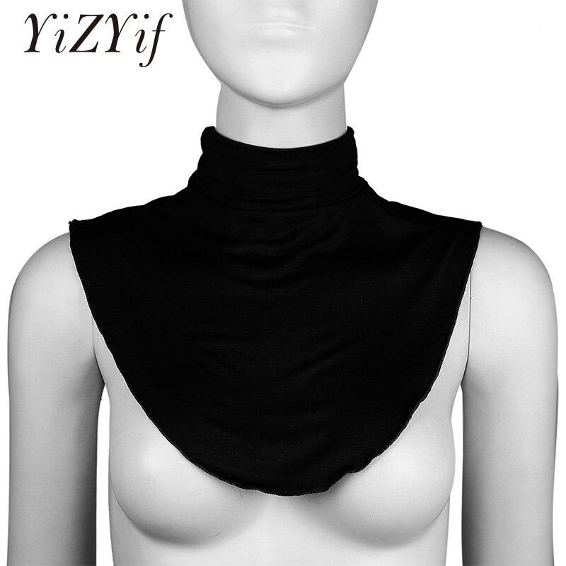 Half Fake Collar Detachable Cotton Fake Turtleneck Half Top Mock Blouse Dickey Collar Neck Warmer For Women Detachable Collar
