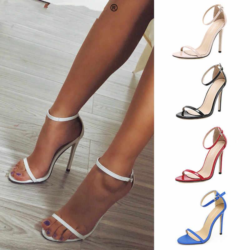 Yaz yüksek topuklu yeni kadın pompaları konfor kadın ayakkabı toka kadın sandalet seksi parti ayakkabıları kadın topuklu kadın artı boyutu