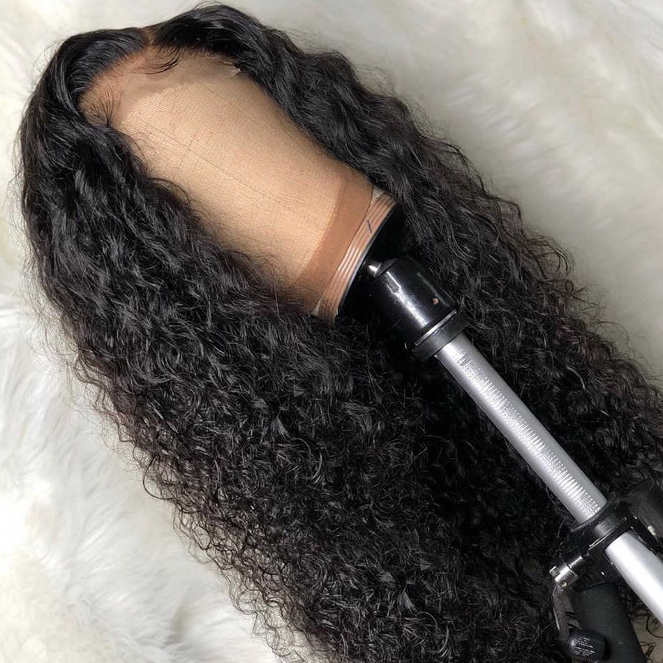 Luvin 200 density 28 30 Inch Deep Wave 13x6 Glueless Curly Lace Front Human Hair Wigs Black Women Brazilian Frontal Wig Plucked