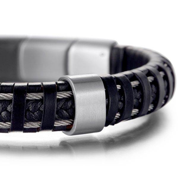 H39bd8e16fcc9494f962d6c70a0409b8bv - Hard leather Bracelets Jewelry for pain relief