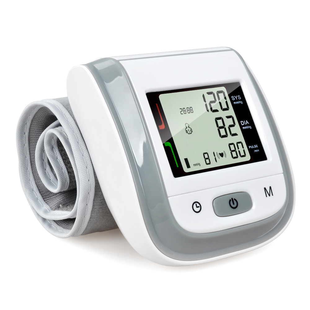 ELERA Digital Wrist Blood Pressure Monitor Portable LCD Display Tonometer Measuring Bp Heart Beat Meter Sphygmomanometer