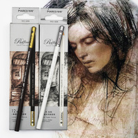 12pcs Marco 7011 Sketch and Drawing Wooden Pencil Set HB Art Painting Professional Hand-Painted Pencils Stationery Promotion