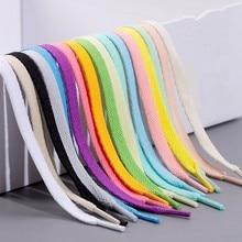 Lacets plats classiques, 1 paire, 36 couleurs, pour chaussures de sport blanches, pour hommes, femmes et enfants