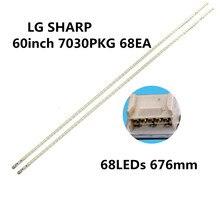 1 комплект = 2 штуки 676 мм светодиодный полосы 68 лампы LG innotek 60 дюймов 7030PKG 68EA R L-TYRE REV0.2 120611 для LCD-60DS20A экран JE600D3GV2 BX