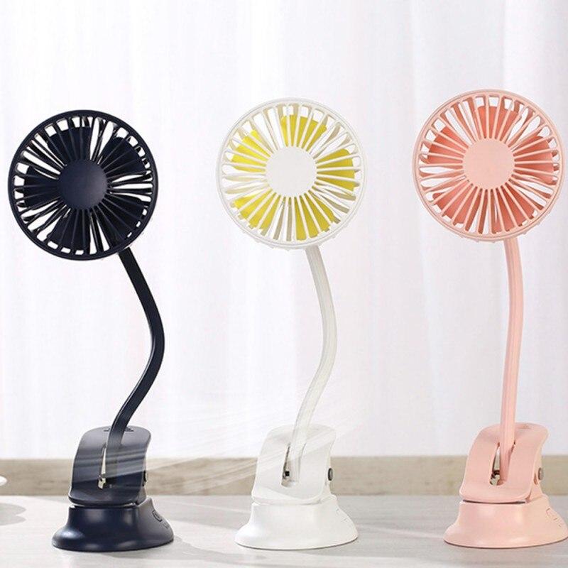 Portable Mini Clip Stroller Fan 3 Speeds Settings Flexible Bendable Usb Rechargeable Ultra-quiet Desk Ventilador Fan For Home