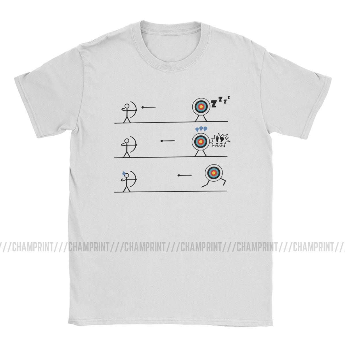 Funny Running Archery Target T-Shirt Men Cotton T Shirt Bow Arrow Japanese Primitive Archer Kyudo Short Sleeve Tees Adult