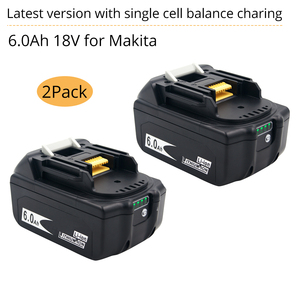 2 комплекта электроинструментов батарея для Makita 18В батарея 6ah 6000 мАч BL1860 Bl1850 BL1840 BL1830 светодиодная защита баланса заряда