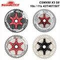 Sunracing 10s 11s MTB велосипед свободного хода 11-42 T 46T 50 T, CSMX80 S3 X3 S8 X8 кассеты, 10 11 скоростей широкоугольный Велосипед маховик