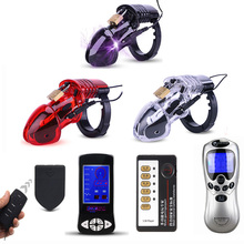 Wireless Remote Control Electro Shock CB6000 Male Lock With Adjustable Ring Chastity Belt BDSM Chastity Device Cock Cage For Man