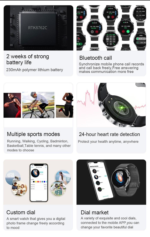 H39be6911f7be4db0aaa8e3ac69d8930en LIGE 2021 New Smart watch Men IP68 waterproof watch Multiple sports modes heart rate weather Forecast Bluetooth Men Smart watch