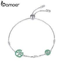 Bamoer drôle Lotus feuille Bracelet pour les femmes Design exquis en argent Sterling 925 bijoux de fiançailles bijoux cadeaux BSB006