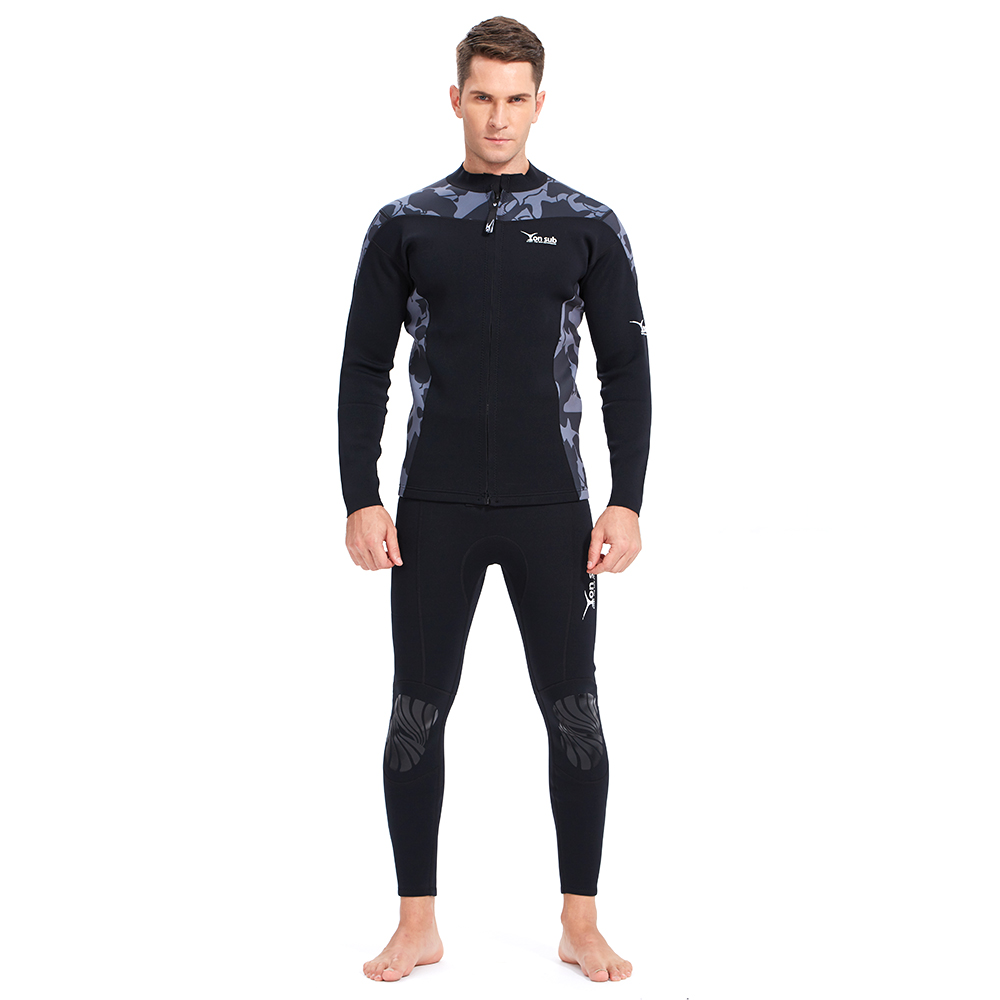 Neoprene 2MM Man Diving Suit Surfing And Spearfishing Wetsuit Two Pieces Free Shipping
