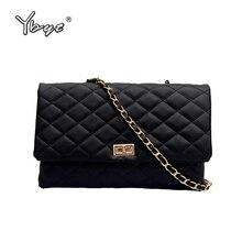 YBYT fashion women evening clutch bag big crossbody bags for plaid shoulder luxury handbags chain female messenger