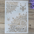 A4 A3 A2 Size DIY Craft Mandala Stencils for Painting on Wood,Fabric,Walls Art Scrapbooking Stamping Album Embossing Paper Cards