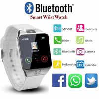 2019 nuevo diseño electrónico inteligente deporte oro inteligente reloj de pulsera DZ09 podómetro para Mujeres Hombres Unisex reloj hombre dw reloj
