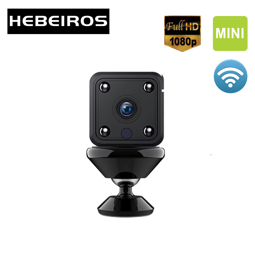 Hebeiros 1080P Portable Mini IP Camera Magnetic Base 2MP Battery Wifi Camera Night Vision Audio Recording Security CCTV Camera
