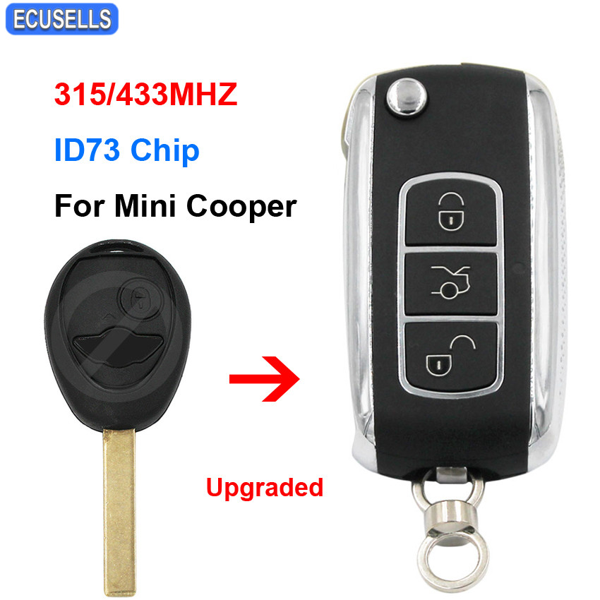 Keymall keyless entry remote car key fob replacement for Mini Copper Land Rover 75 MG ZT 315MHZ PCF7931
