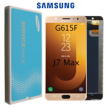 "5.7 ""orijinal AMOLED LCD Samsung Galaxy J7 Max G615 LCD ekran dokunmatik ekran Digitizer meclisi değiştirme + servis paketi"