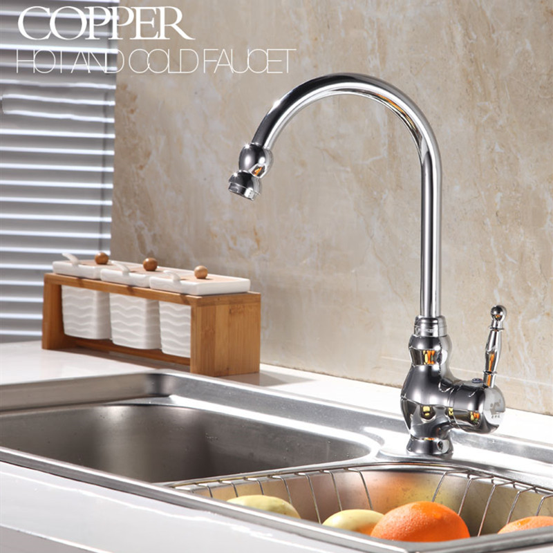 LIUYUE Kitchen Faucets Gold Plating Taps Swivel Classic Luxury Crane Vanity Lavatory Basin Faucet Hot And Cold Water Brass