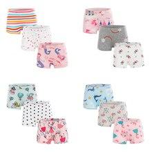 Underwear Shorts Girls Cartoon Cotton Hot-Sale 3pcs/Lot Soft Design Children