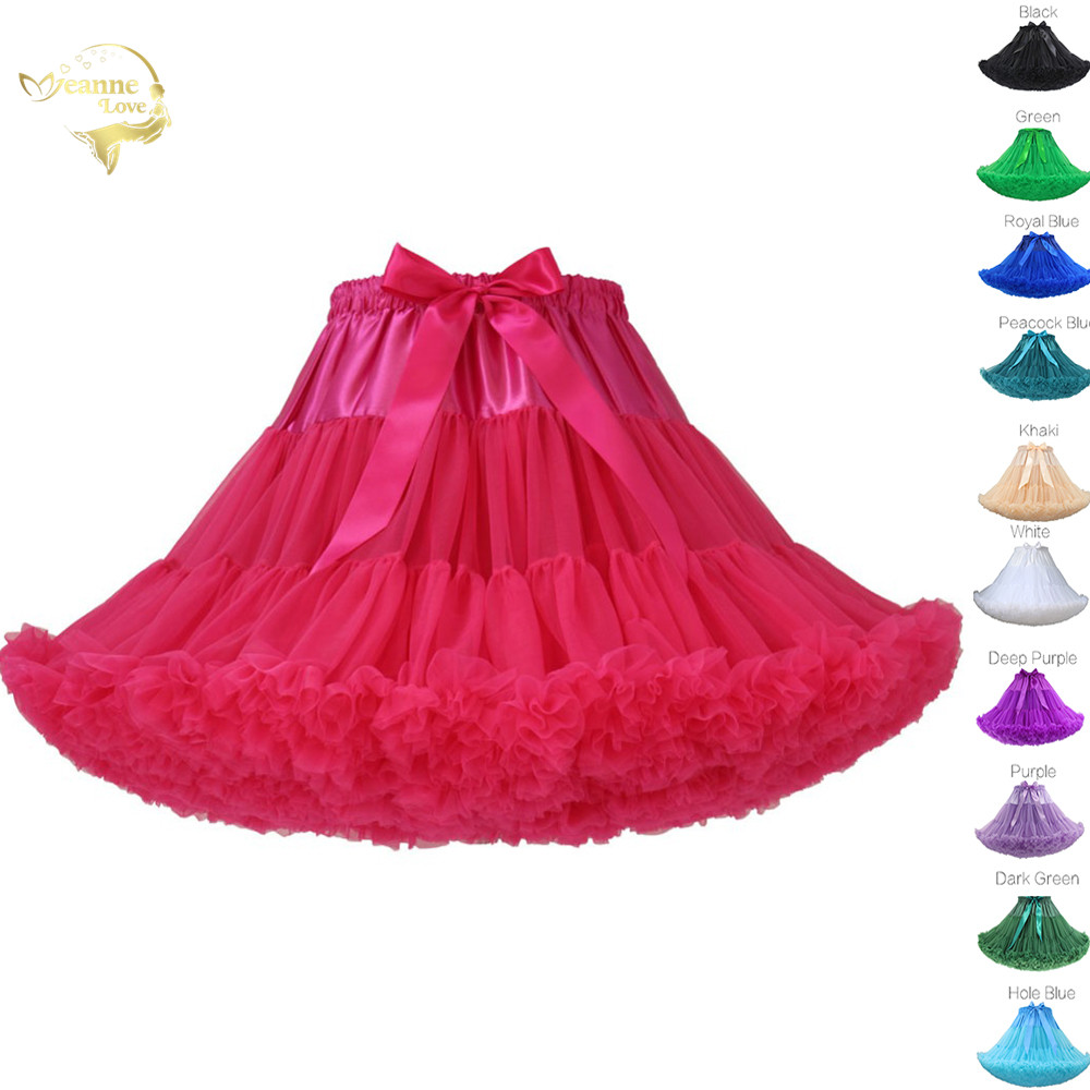 Womens Fluffy Party Dance Tutu Skirt Girls Lolita Petticoat Ball Gown Underskirt Swing Short Dress Cosplay Rockabilly Crinoline