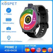 "KOSPET PRIME 2 Smartwatch uomo 4G Android 10 orologi telefono 4GB 64GB Smartwatch 2020 GPS 13MP fotocamera 1600mAh 2.1 ""orologio da uomo"