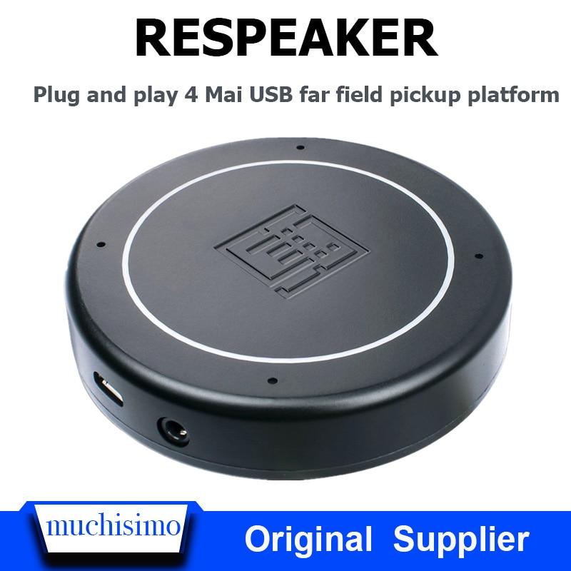 Raspberry Pi 4B ReSpeaker USB Mic Array Far Field Microphone AI Speech Recognition Development Board Raspberry Pi 4B