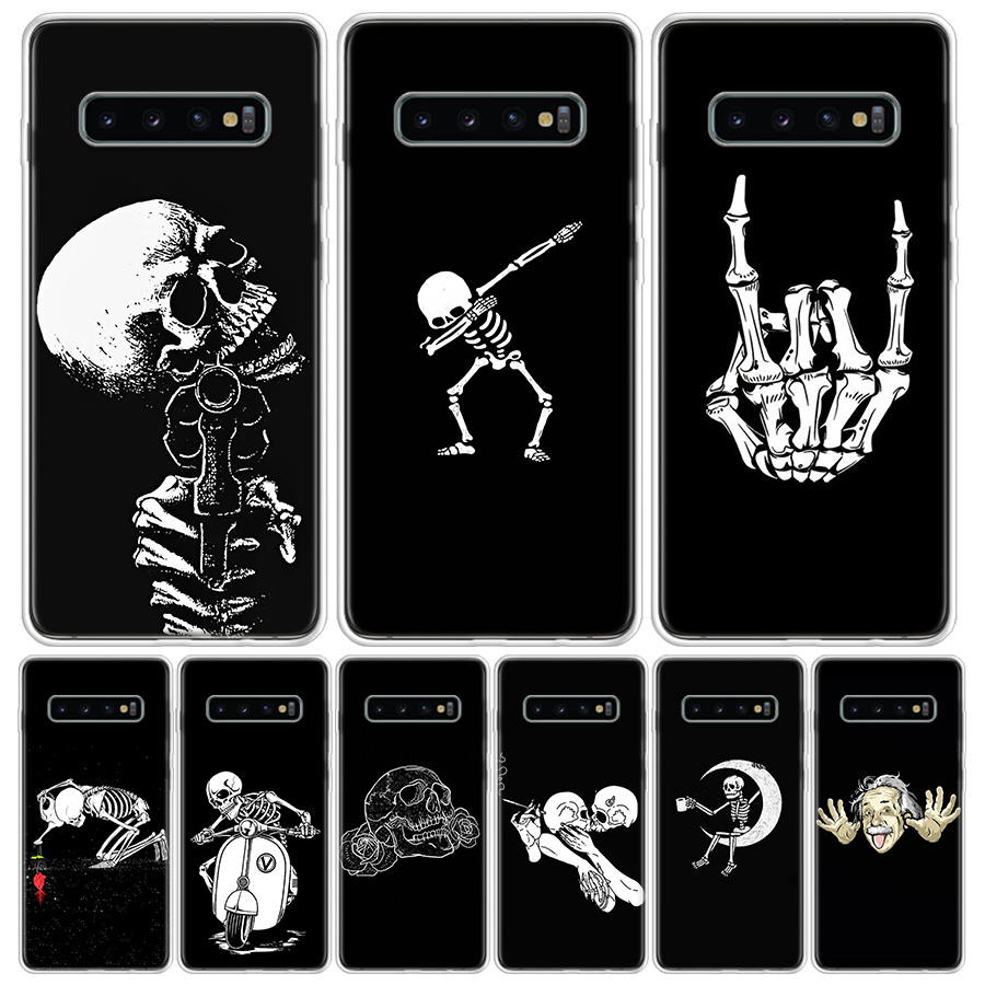 Spooky Skull <font><b>Funny</b></font> Dance Skeleton Cover Phone <font><b>Case</b></font> For <font><b>Samsung</b></font> Galaxy A51 A71 A50 A10 <font><b>A20E</b></font> A30 A40 A70 M30S A01 A21 A6 A7 A8 A9 image