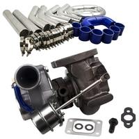 GT2860 3 gt28 Com A/R .60 turbine A/R .64 T25 T28 turbo turbocharger 3'' 76mm Aluminum Universal Intercooler Pipe hose T Clamp