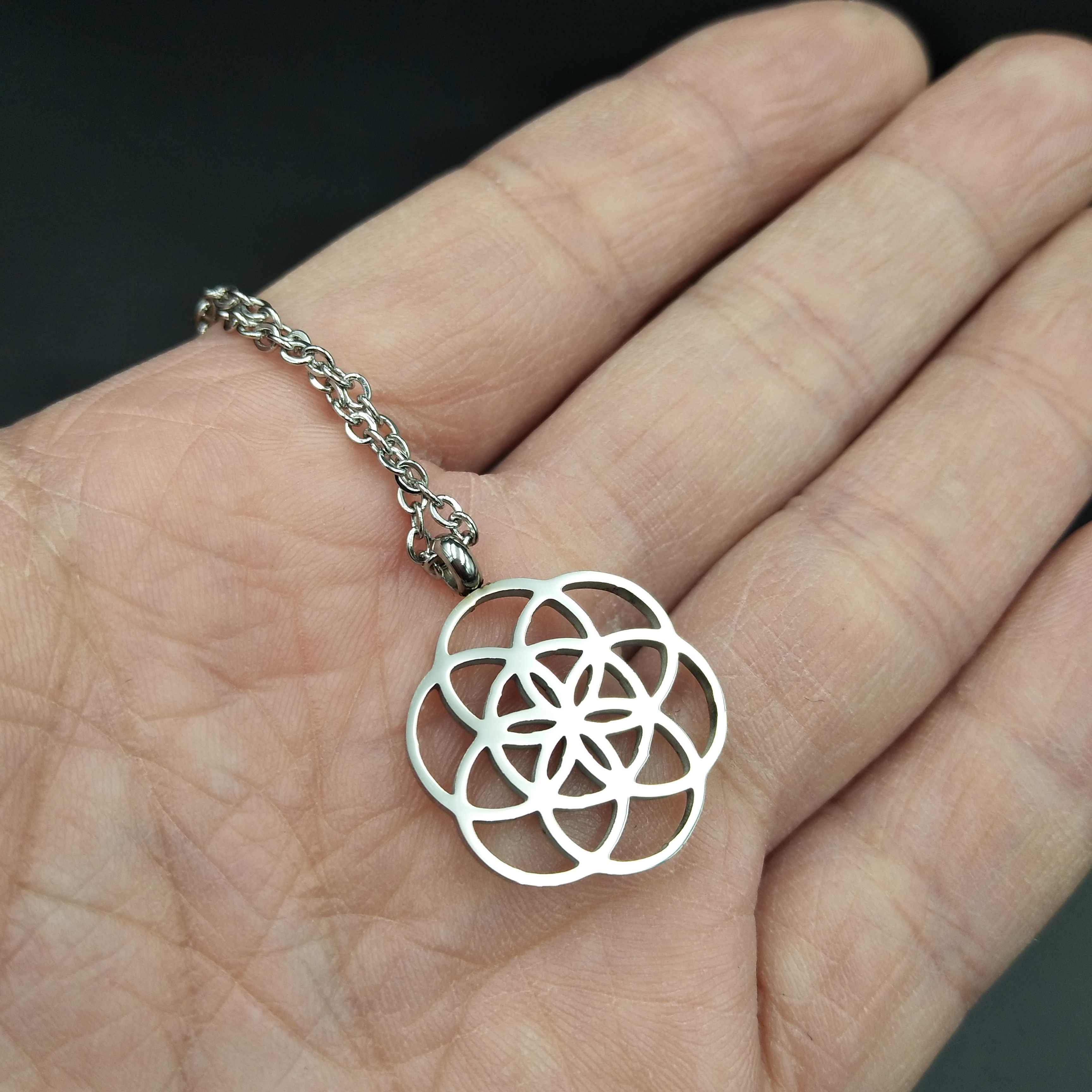 Seed of life Jewelry Supplies Flower charm PE48 Sacred geometry pendants 16 mm Sterling silver Flower of life Charm