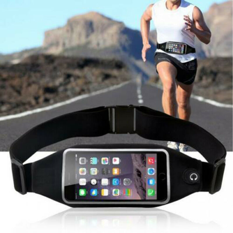 Waterproof Sport Runner Waist Bag Running Jogging Belt Bag Pouch Zip Fanny Pack /BY