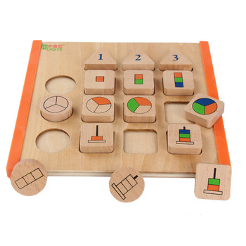 Montessori quantity cognitive early education teaching aids wooden learning board building blocks children educational toys