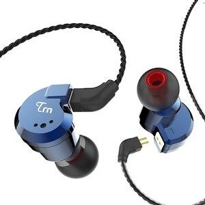 Image 2 - TRN V80 2BA + 2DD 하이브리드 리얼 메탈 이어폰 IEM HIFI DJ 모니터 러닝 스포츠 이어폰 이어 플러그 헤드셋 V90 X6