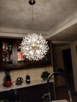 Северный постмодерн роскошная люстра хрустальный снежный шар индивидуальная лампа-Одуванчик ресторан освещение для магазина одежды присп...