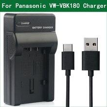 LANFULANG VW VBK180, VW VBK360, pil şarj cihazı Panasonic SDR S50 SDR H95 HDC TM55 HDC TM60 HDC TM90 HC V500