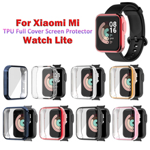 TPU מגן מקרה עבור Xiaomi Mi שעון לייט ציפוי מלא מסך מגן מעטפת כיסוי עבור Mi שעון לייט מקרה