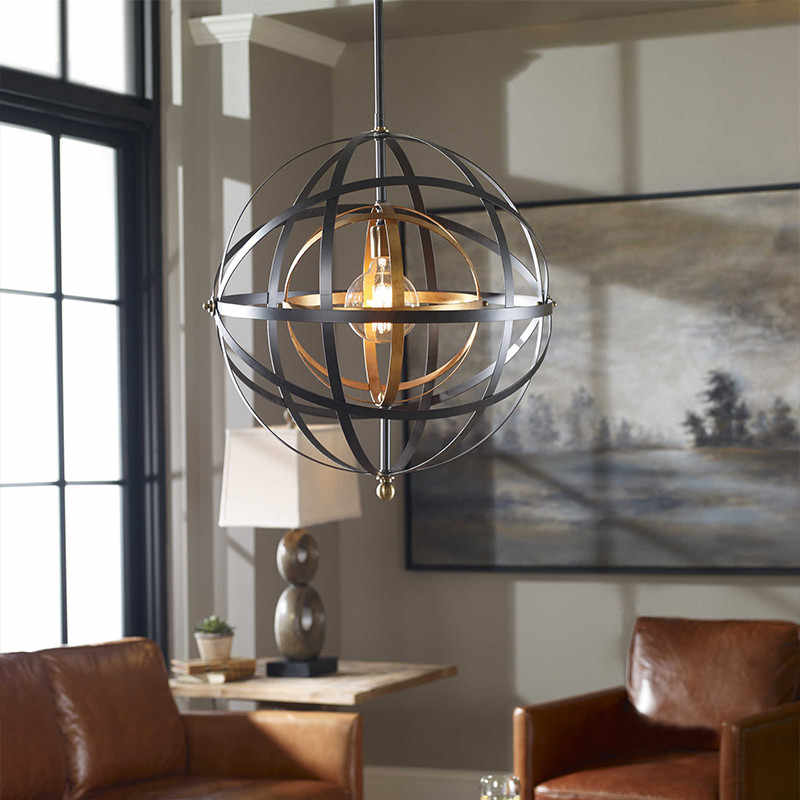 Ball Pendant Light Modern Coffee